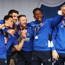 League two - Portsmouth FC are crowned as Champions at Southsea common - 07/05/17